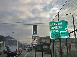 Temuco green traffic light
